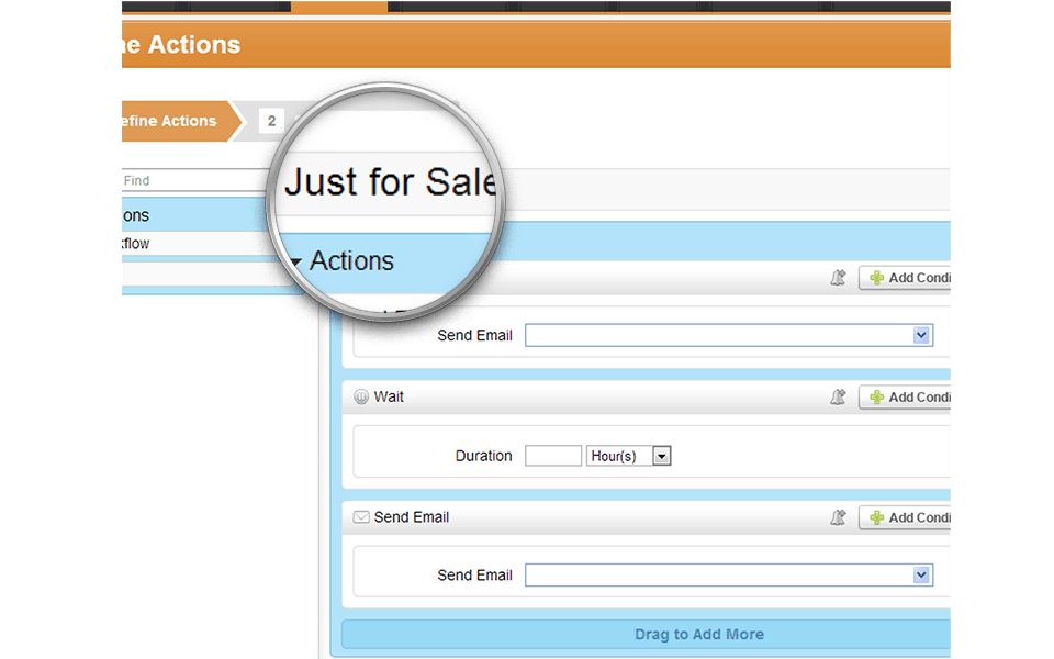 Preconfigure Nurturing For Sales
